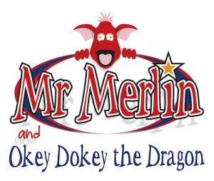 Mr Merlin main logo with dragon