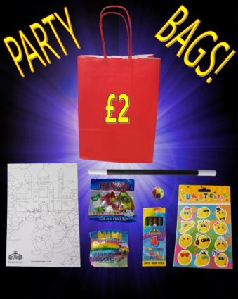 Party bags with toys for children