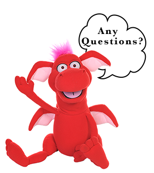 Okey Dokey The Dragon asking if there are any questions.