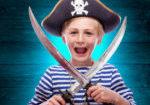 Pirate theme on Mr Merlin website